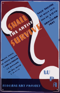Shall The Artist Survive? Clip Art