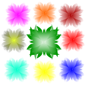 Colorfull Flower Clip Art