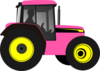 Tractor-pinkyellow Clip Art