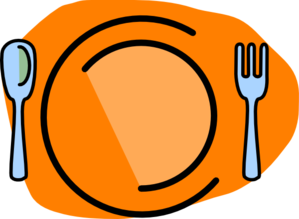 Plate, Fork, Spoon-no Text Clip Art