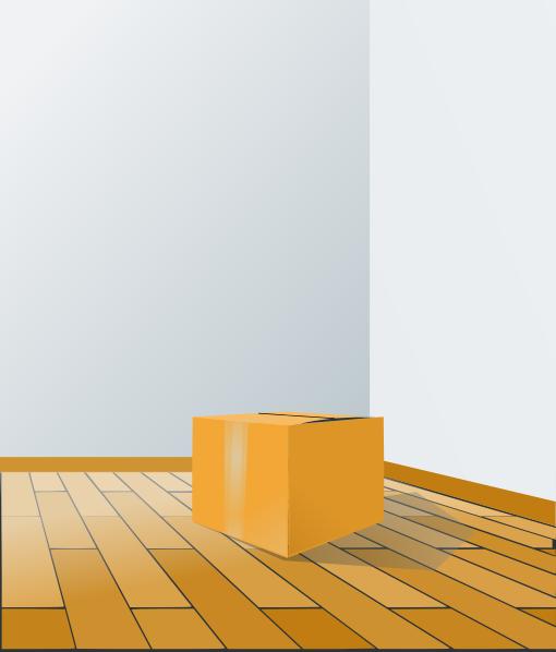 Clip Art Carpet And Flooring : Box over wood floor clip art at clker vector