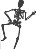 Dancing Skeleton Clip Art