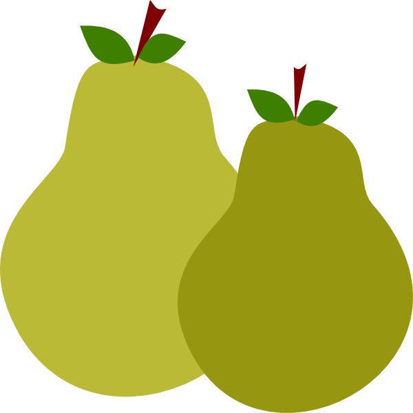 Pair Of Pears Clip Art at Clker.com - vector clip art ...