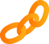 Orange Link (no Outline) Clip Art