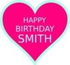 Smith Bday3 Clip Art