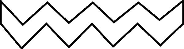 Zigzag Line Art : White zig zag clip art at clker vector