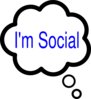 Im Social Thought Bubble Clip Art
