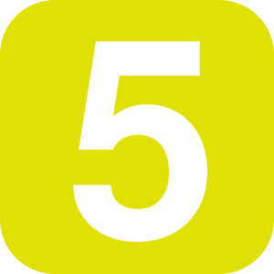 Number 5 Yellow Clip Art