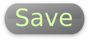 Save Button Grey Clip Art
