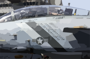 An F-14 Tomcat Assigned To The Bounty Hunters Of Fighter Squadron Two (vf-2) Displays The Bombs And Missiles, Below The Canopy, That This Tomcat Has Dropped In Support Of Operation Iraqi Freedom Clip Art