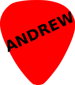 Guitar Pick For Andrew Clip Art