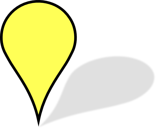 yellow pin clipart - photo #10