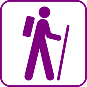 Purple Hiker Clip Art