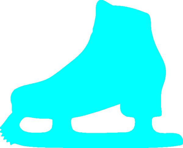 Blue Iceskate Clip Art at Clker.com - vector clip art online, royalty ...