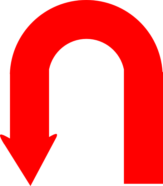 Red U-turn Clip Art at Clker.com - vector clip art online, royalty ...