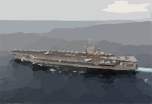 Uss George Washington (cvn 73) Sails Off The Coast Of Florida. Clip Art