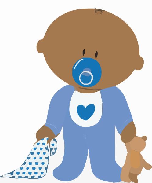 baby boy with teddy clip art at vector clip art online