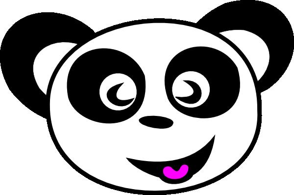 Happy Panda Face Clip Art at Clker.com - vector clip art ... - photo#7
