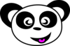 Happy Panda Face Clip Art