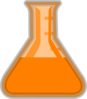 Orange Flask Lab Clip Art