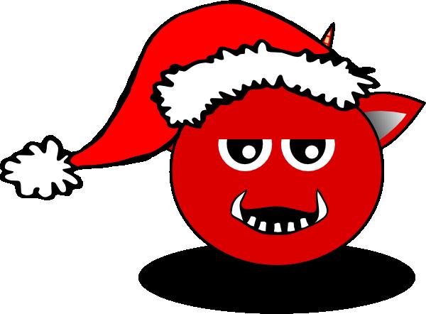 Santa Devil clip art