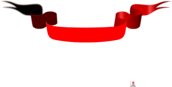 Line Art Ribbon : Red banner with diffused ribbon clip art at clker.com vector