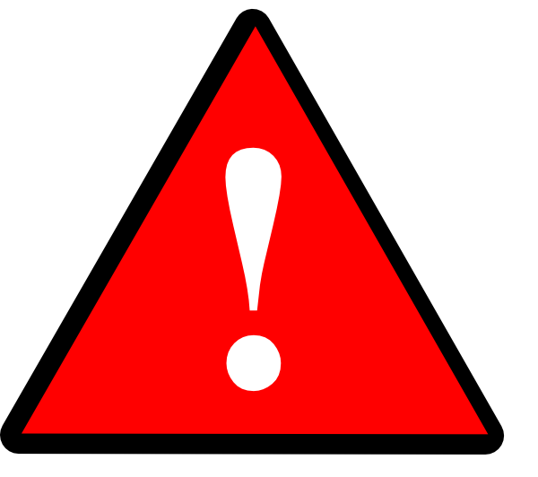 Black Red White Warning 1 Clip Art at Clker.com - vector ...