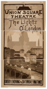 The Lights O  London Every Evening And Saturday Matinee. Clip Art