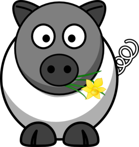 A White Pig Is No Sheep Clip Art