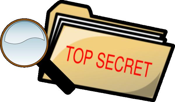 Top Secret Folder And ...