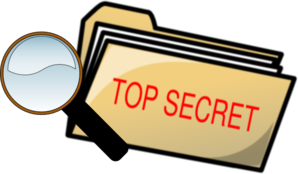 Top Secret Folder And Magnifying Glass Clip Art