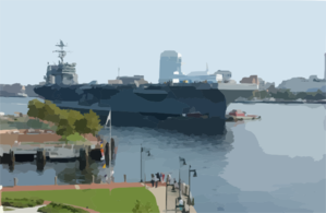 The Nuclear Powered Aircraft Carrier Uss Harry S. Truman (cvn 75) Clip Art