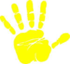 large hand print clipart rh worldartsme com handprint outline clipart child handprint clipart