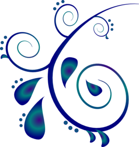Paisley Scroll Clip Art