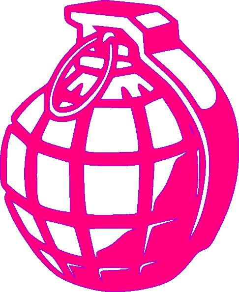 pink grenade clip art at clker com vector clip art online royalty rh clker com Grenade Drawing Grenade Drawing
