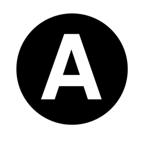 White Letter  A  Centered Inside Black Circle  Clip Art