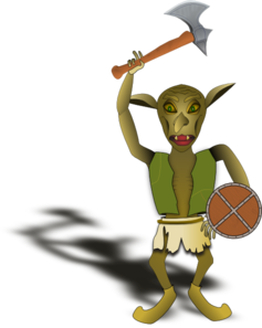 Goblin Warrior Clip Art