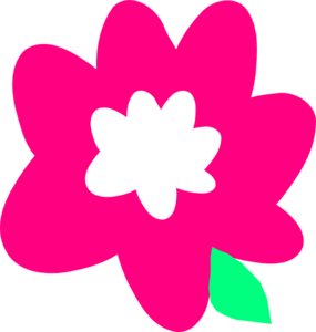 Pink Cartoon Flower Clip Art