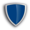 Blue Edged Shield Clip Art