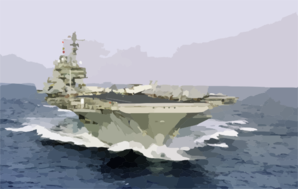 Uss Kitty Hawk (cv 63) Underway Clip Art