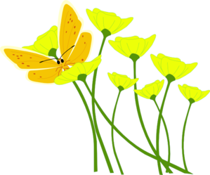 Yellow Flowers Clip Art