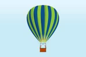 Hot Air Balloon In Sky Clip Art
