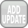 Gray Add Update Square Button Clip Art