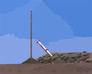 A Tactical Tomahawk Completes A Test Launch And Target Intercept. Clip Art