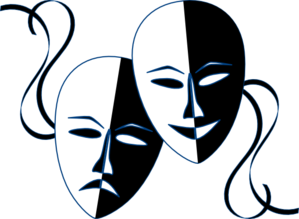 theatre masks clip art at clker com vector clip art online rh clker com theatre clip art free theater clipart