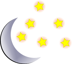 Moon And Start Clip Art