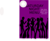 Saturday Night Menu Clip Art