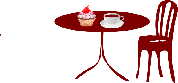 Table Chair Cupcake Cherry Coffee Clip Art at Clkercom vector