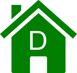 Simple Green D House Clip Art