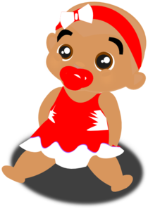 Red Baby Clip Art